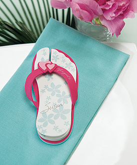 Unique Wedding Favor Flip Flop Note Pads - Set of 6