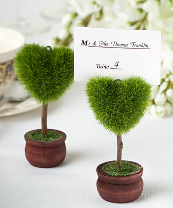 Unique Heart Design Topiary Place Card Holder