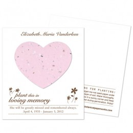 Heart Plantable Memorial Cards