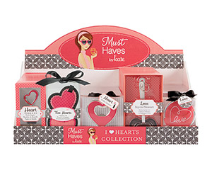 I Love Hearts Collection Display