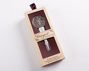 "Vino ""Vineyard Grape"" Bottle Stopper"