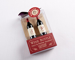 "Vino ""Wine Bottle"" Salt & Pepper Shakers"