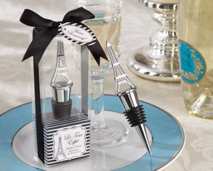 La Tour Eiffel Chrome Bottle Stopper