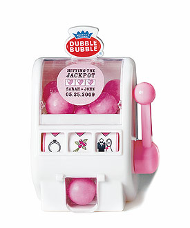 Las Vegas Gumball Slot Machine Wedding Favor