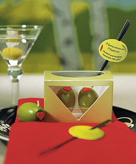 Matrimonial Martini Mini Olive Candles ( Set of 6 )
