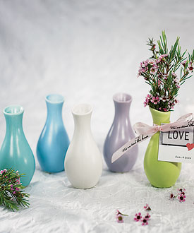 Mini Decorator Favor Vases - Set of 6-Mini Decorator Favor Vases