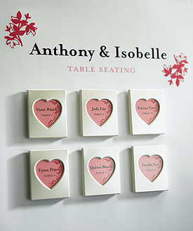 Mini Magnet Back Aluminum Heart Photo Frames ( Set of 3 )