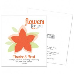 Modern Flower Plantable Seed Paper Favor