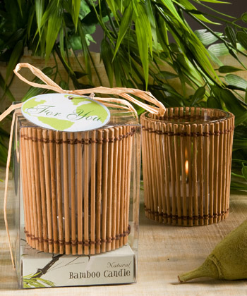 Natural Selections Collection bamboo wood candles