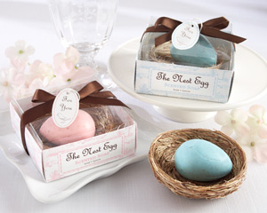 """The Nest Egg"" Scented Egg Soap in Nest (Pink or Blue)"