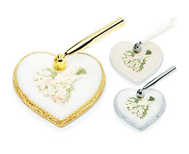 Pastel Bridal Bouquet Heart Base Pen Set