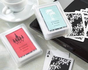 Perfectly Suited Personalized Playing Cards in Travel Case