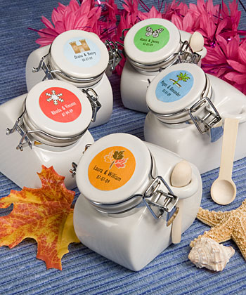 Personalized Expressions Collection ceramic jar favors