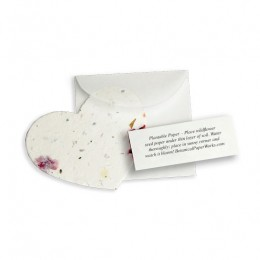 Plantable Heart Note Favor