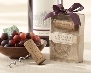 Bordeaux Vineyards Stainless-Steel Corkscrew