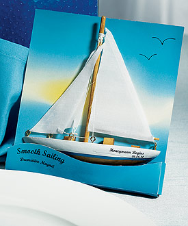 Smooth Sailing Sailboat Magnet Gift Favor (Set of 6)