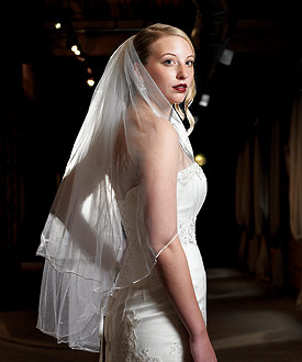 Satin Corded Edge Veil