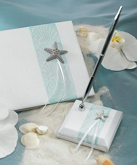 Seaside Allure Satin Wrapped Pen Set