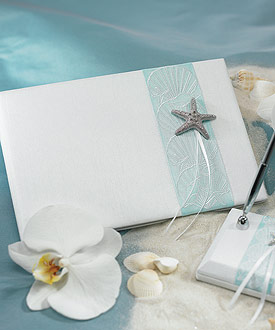 Seaside Allure Traditional Guest Book