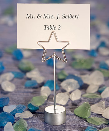 Shining Star Design Place Card Holder Favors