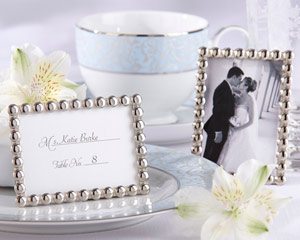 """Silver Pearls"" Mini Photo Frame"