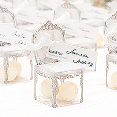 Transparent Chair Favor Boxes (Set of 10)