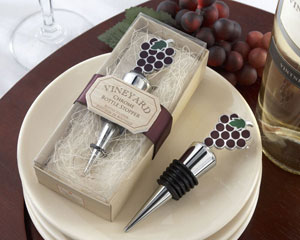 Vineyard Select Enamel and Chrome Bottle Stopper