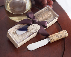 """Vintage Reserve"" Stainless-Steel Spreader with Wine Cork Handle"