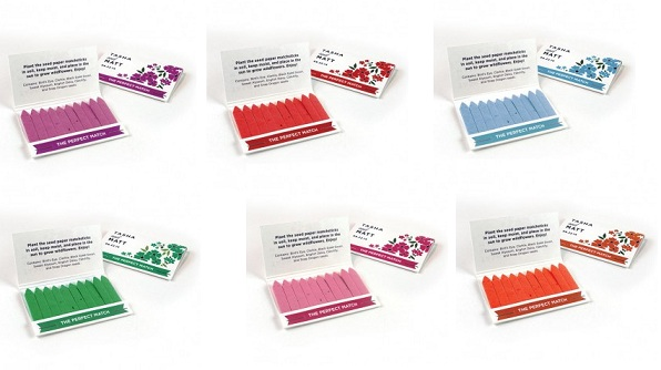 Wildflower Seed Paper Matchbook Favor