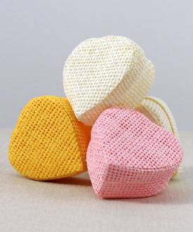 Woven Heart Shaped Box with Lid (Set of 24)