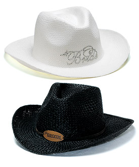 Bride Groom Cowboy Hats