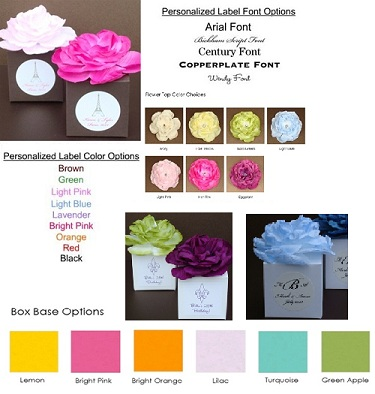Basic Flower Top Favor Box