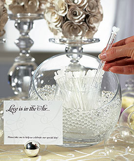 Love Wedding Bubble Favor Wands - Set of 24