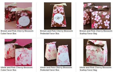 Cherry Blossom Favor Box