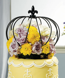 Large Crown Unique Wedding Cake Topper