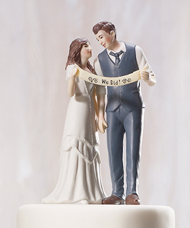 indie style wedding couple figurine