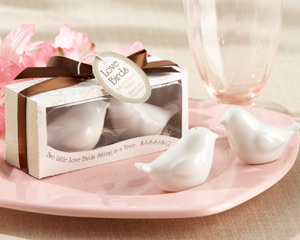 Lovebirds in the Window Ceramic Salt Pepper Shakers