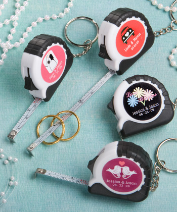 Personalized Expressions Collection key chain - measuring tape favors