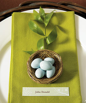 Miniature Natural Bird Nests Spring Wedding Favors