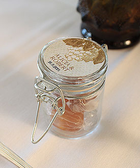 Mini Glass Candy Jar with Wire Snap Wedding Favor Accessory