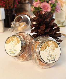 Mini Glass Candy Jar with Lid Wedding Favor Accessory