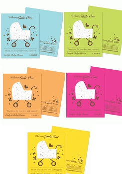 Bright Baby Carriage Plantable Favor