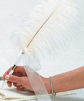Traditional Plume Feather Wedding Pens