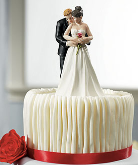 Yes to the Rose Couple Romantic Wedding Cake Topper