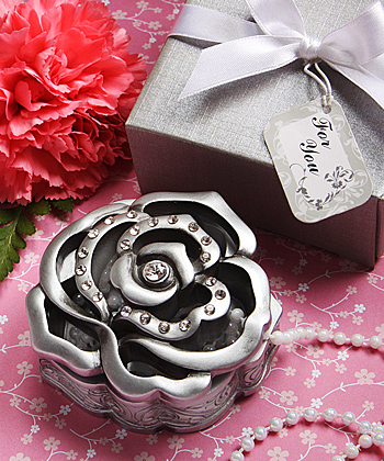 rose design curio boxes