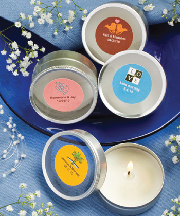 Personalized Expressions Collection scented round travel candles-Personalized Expressions Collection scented round travel candles