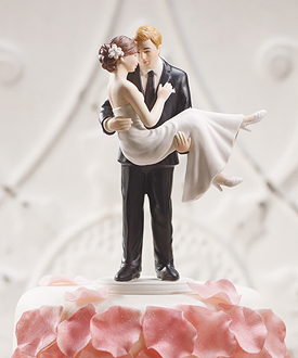 swept up in his arms wedding couple figurine