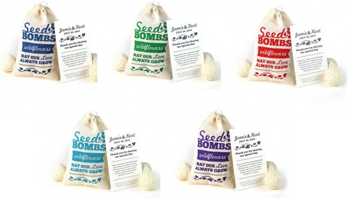 Wildflower Seed Bombs Favor